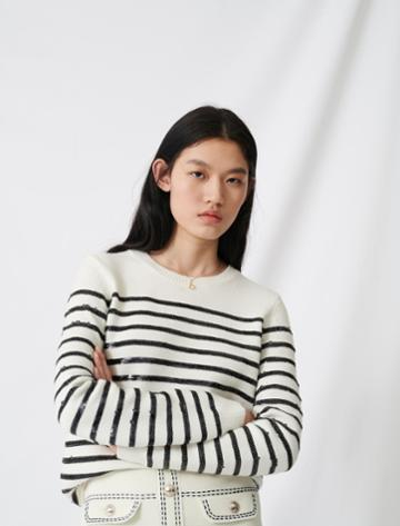 Maje Breton Jumper With Sequins