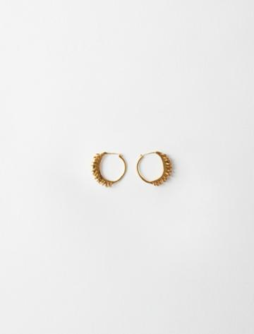 Maje Gold-plated Small Earrings With Rings