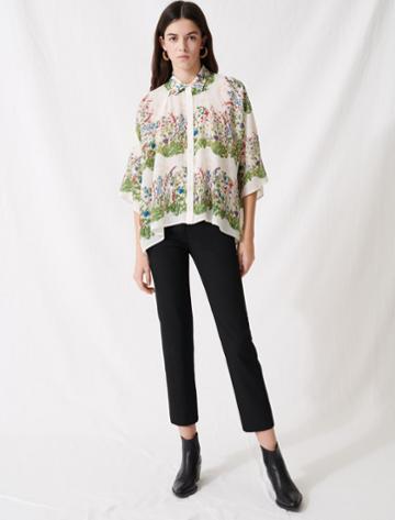 Maje Oversized Floral Shirt