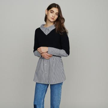 Maje Trompe-l'il Effect Cropped Sweater