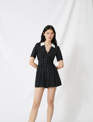 Maje Floaty Playsuit With Retro Polka Dots