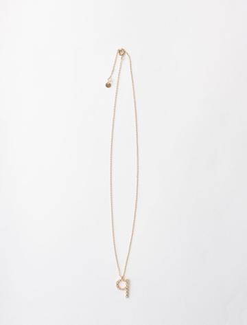 Maje Rhinestone Q Necklace