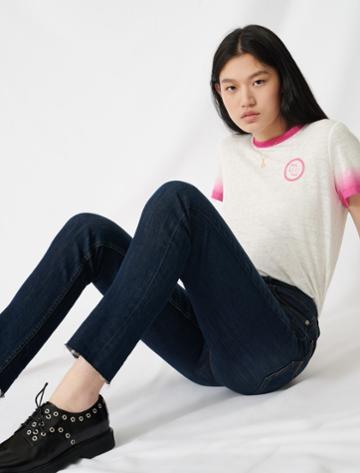Maje High-waisted Slim-fit Jeans