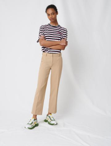Maje Beige Tailored Trousers