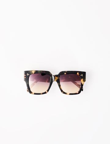 Maje Brown Square Sunglasses