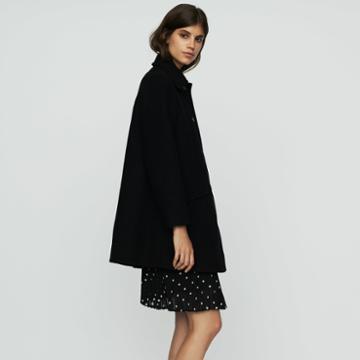 Maje Wool Trapeze Coat