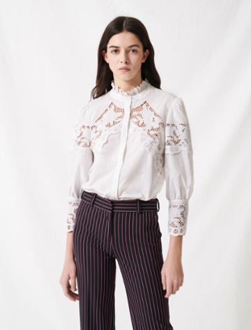 Maje White Cotton Shirt