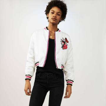 Maje Cropped Embroidered Jacket