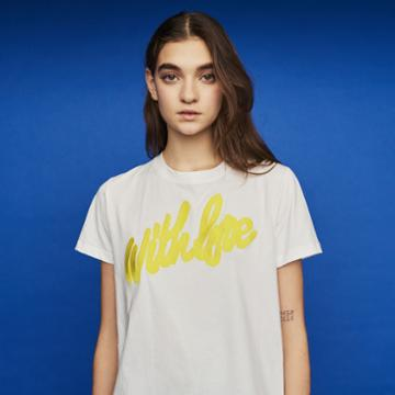 Maje Tee-shirt With Embroidered Slogan