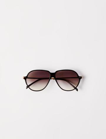 Maje Acetate Aviator Sunglasses