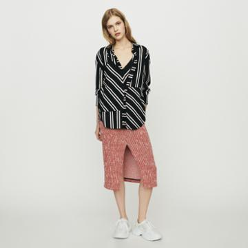 Maje Shirt With Trompe-l'il Stripes