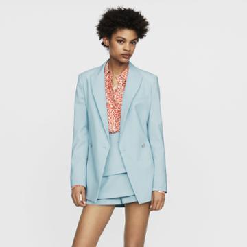 Maje Long Wool-blend Blazer