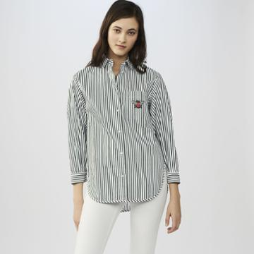 Maje Striped Cotton Shirt