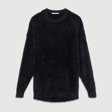 Maje Faux-fur Sweater