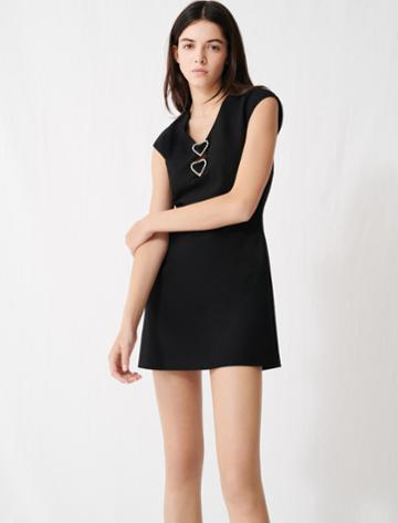 Maje Dress With Diamant And Hearts