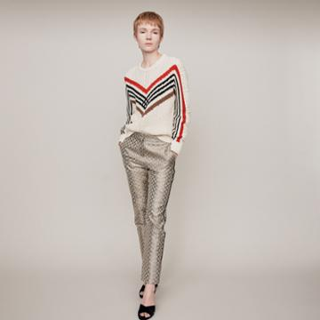 Maje Twisted Sweater With Graphic Motifs