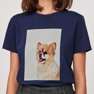 Maje T-shirt With Chien Print