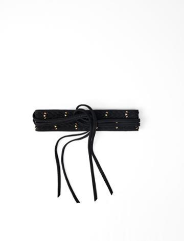 Maje Horsebit-style Tie Belt