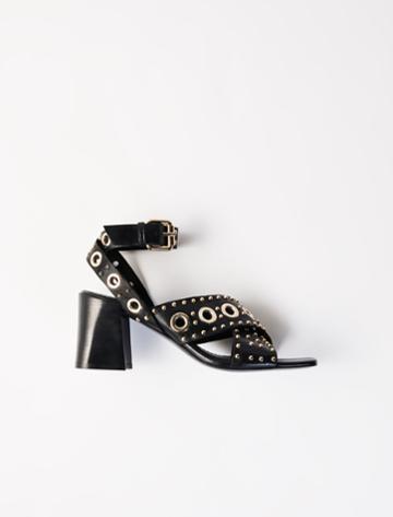Maje Heeled Studded Sandals