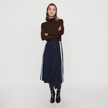 Maje Skirt With Pinstripes