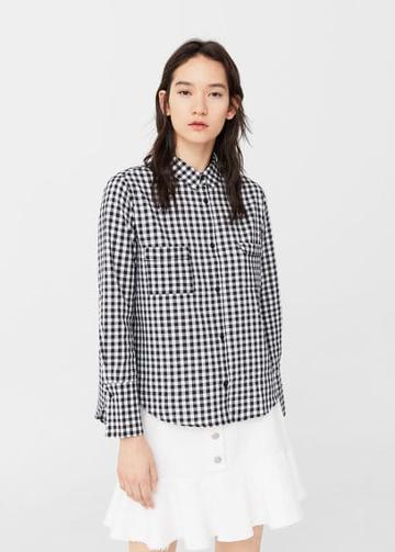 Mango Mango Gingham Check Shirt