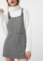 Mango Mango Houndstooth Pinafore Dress