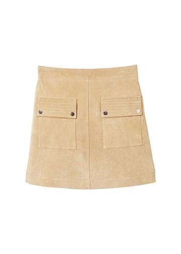 Mango Mango Pocketed Suede Skirt