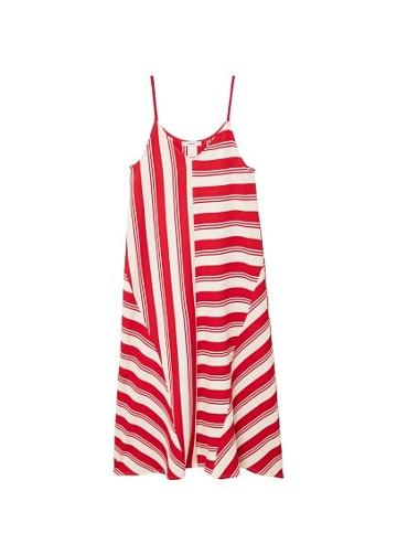 Mango Mango Striped Contrast Dress