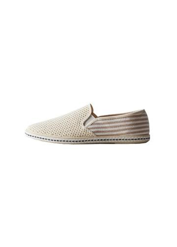 Mango Man Mango Man Striped Cotton Espadrilles
