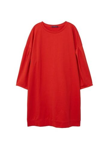 Violeta By Mango Violeta By Mango Pleats Sweatshirt Dress