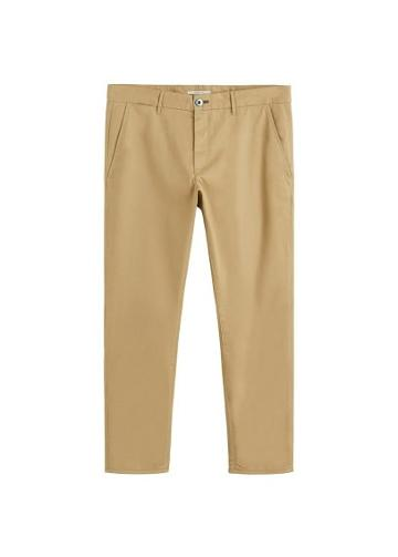 Mango Man Mango Man Slim-fit Cropped Trousers