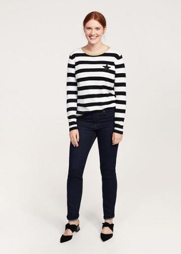 Violeta By Mango Violeta By Mango Striped Appliqu Sweater