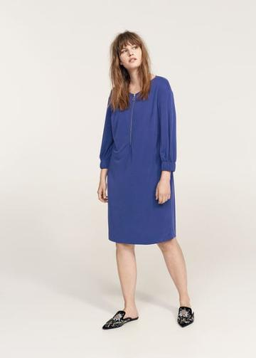 Violeta By Mango Violeta By Mango Zipped Neckline Dress