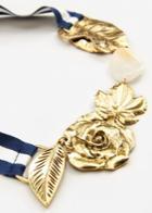 Mango Mango Bow Flowers Necklace