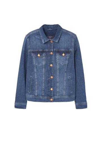 Violeta By Mango Violeta By Mango Dark Denim Jacket