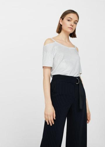 Mango Mango Off-shoulder Flowy T Shirt