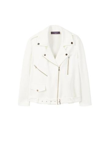 Violeta By Mango Violeta By Mango Neoprene-effect Biker Jacket