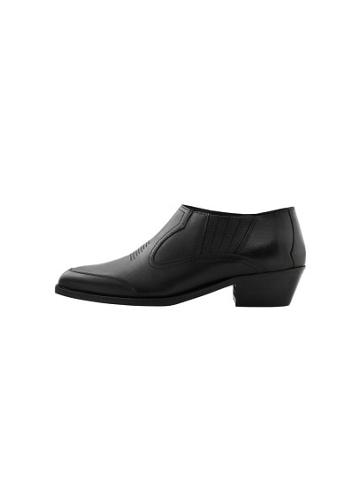 Violeta By Mango Violeta By Mango Leather Pointed Ankle Boots