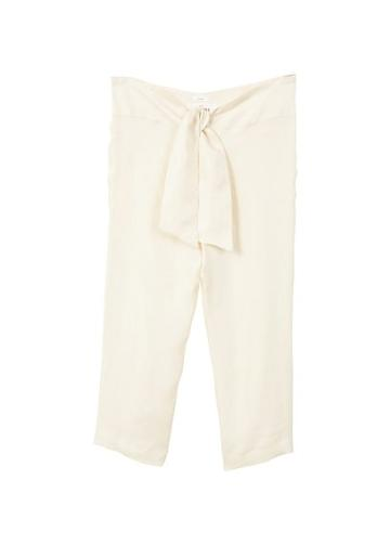 Mango Mango Bow Soft Fabric Trousers