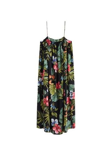 Mango Mango Tropical Oversize Dress