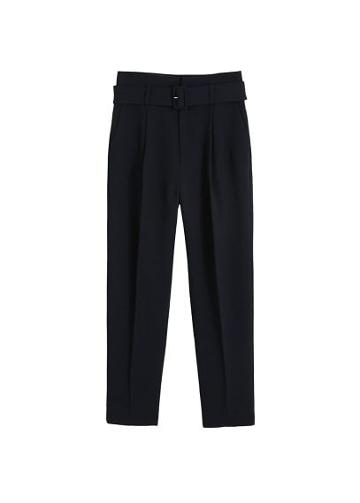 Mango Mango Belt High-waist Trousers