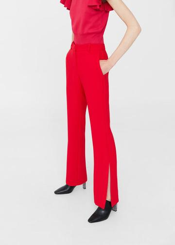 Mango Mango Side Slit Flowy Trousers
