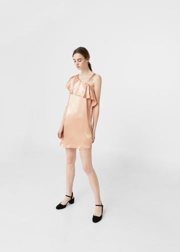 Mango Mango Metallic Asymetric Dress