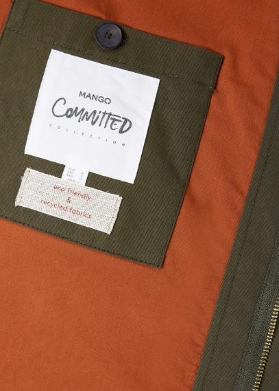 Mango Man Mango Man Aviator Contrast Jacket