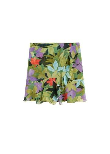 Mango Mango Tropical Print Skirt