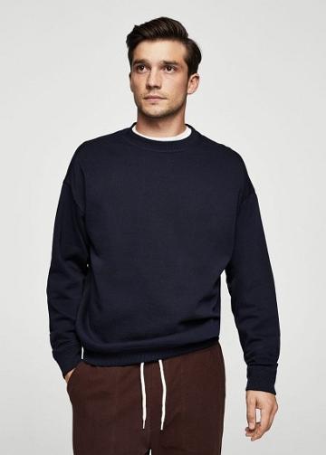 Mango Man Mango Man Oversize Cotton Sweatshirt