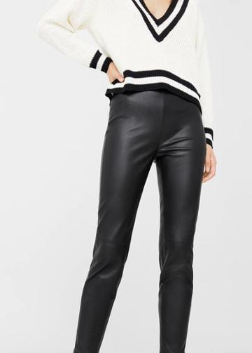 Mango Mango Faux-leather Pants