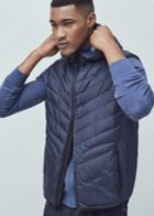 Mango Man Hooded Quilted Gilet