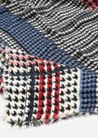Mango Mango Houndstooth Knit Scarf