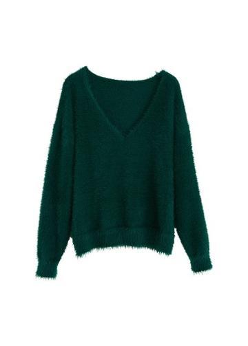 Mango Mango Faux Fur Knit Sweater